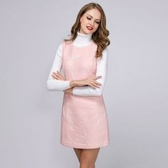 Joe & Dee - Wool Blend Sleeveless Paneled Dress