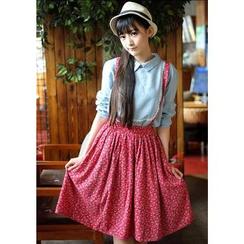 Moricode - Floral Jumper Skirt