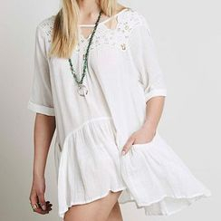 Sunset Hours - Lace Trim Cover-Up