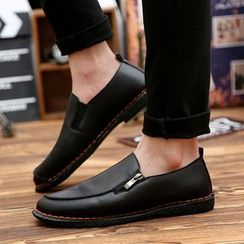 BINSHOU - Zip-Accent Loafers