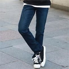 Smallman - Fleece-Lined Washed Jeans