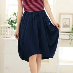 RingBear - Elastic-Waist Skirt