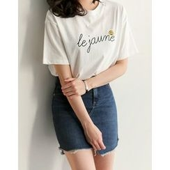UPTOWNHOLIC - Round-Neck Printed T-Shirt