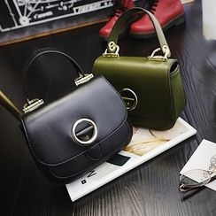 Nautilus Bags - Faux Leather Flap Hand Bag
