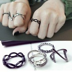 Pop Lop - Set of 4: Heart Beat Rings
