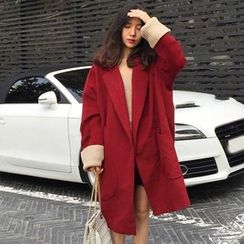 Bloombloom - Loose Fit Woolen Coat