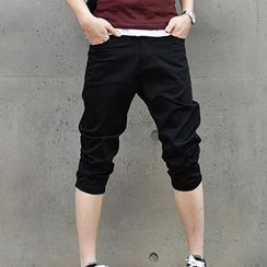MR.PARK - Cotton Cropped Pants