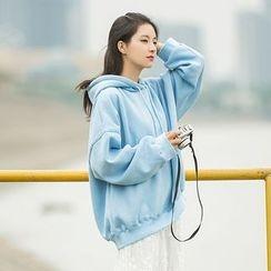 Onyu - 刺绣连帽衫/蕾丝背心裙