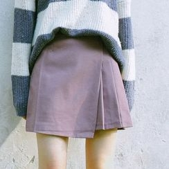 SUYISODA - Plain Pleated Skirt