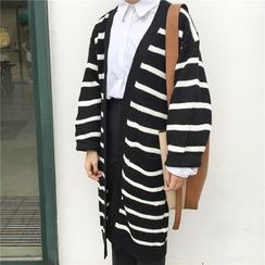 Bloombloom - Striped Long Cardigan
