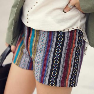 45SEVEN - Multicolor Textured Shorts