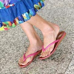 SO Central - Faux Leather Flip Flops