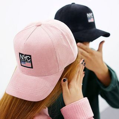 Seoul Homme - Couple 'NEW YORK' Corduroy Baseball Cap