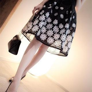 DreamyShow - Floral A-Line Skirt