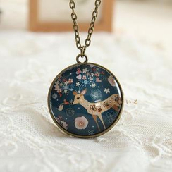 Mushi - Deer Print Necklace