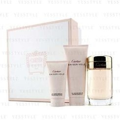 Cartier - Baiser Vole Coffret: Eau De Parfum Spray 100ml/3.3oz + Shower Gel 100ml/3.3oz + Body Lotion 50ml/1.6oz