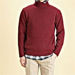 THE COVER - Turtle-Neck Wool Blend Sweater