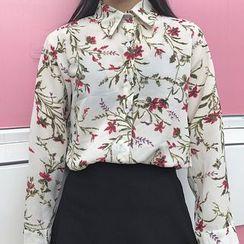 Queen Bee - 碎花长袖衬衫