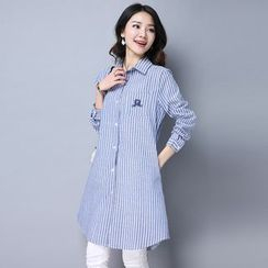 Hazie - Striped Long Shirt