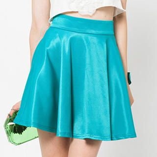 I-DOU - Pleated A-Line Skirt