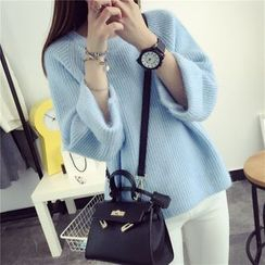 Qimi - Bell-Sleeve Sweater
