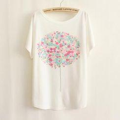 LULUS - Balloon-Print Loose-Fit T-Shirt