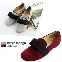 SWEET MANGO - Round-Toe Bow Loafers