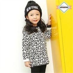 nanakids - Kids Dip-Back Leopard T-Shirt