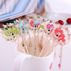 uCoser - Beaded Peacock Fringe Hair Stick