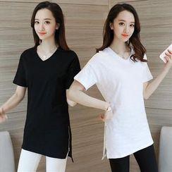 Sienne - Plain Short Sleeve T-Shirt