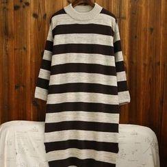 tete - 羊毛混紡條紋長毛衣