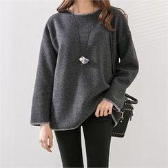 PEPER - Drop-Shoulder Knit Top