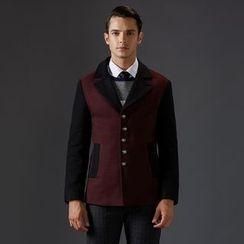 Bingham - Two-Tone Wool Blend Coat