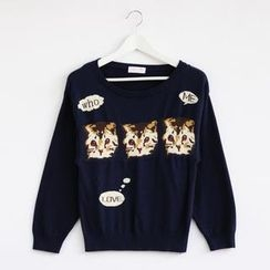 59 Seconds - Cat Print Sweater