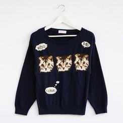 59 Seconds - Cat Print Sweater