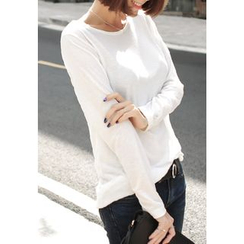 REDOPIN - Round-Neck Long-Sleeve T-Shirt