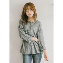 GOROKE - Drop-Shoulder Long-Sleeve Henley