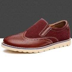 Van Camel - Brogue Oxford Slip-Ons