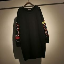 somniaa - Embroidered Long Pullover