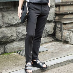 TOMONARI - Flat-Front Straight-Cut Pants