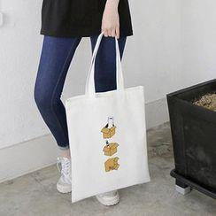Eastin - Cat-Printed Shopper Bag