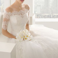 YACCA - Embellished Off-Shoulder Wedding Ball Gown