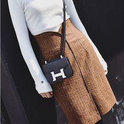 ZZ Lady - Check High-Waist Pencil Skirt