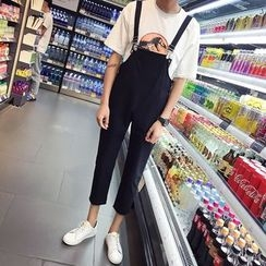 JUN.LEE - Plain Capri Dungaree