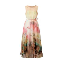 Flore - Sleeveless Floral Long Dress