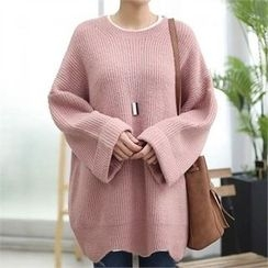 CHICFOX - Bell-Sleeve Lone Knit Top