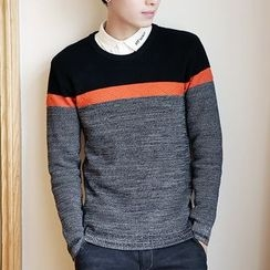 Bay Go Mall - Color Block Sweater