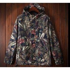 Bigboy - Floral Print Hooded Jacket