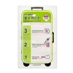 Etude House - One-Sheet Solution Swab & Mask Peeling 3-Step Kit