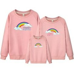 Panna Cotta - Family Matching Rainbow Print Pullover